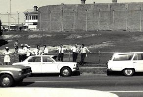 Outside Boggo Road 1978