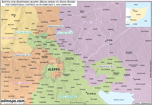 Click image to enlarge map of Aleppo and environs