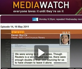 mediawatch_gaven_morris_comment on misreporting syria