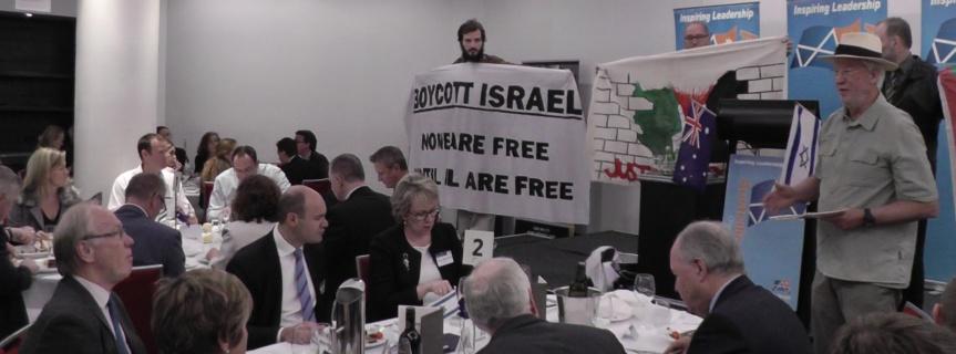 Palestine activists disrupt Australia-Israel luncheon