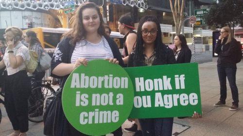abortion picket