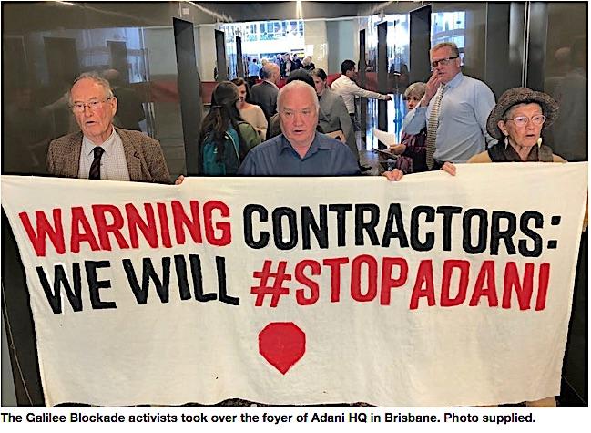 Sopt Adani at HQ in Brisbane
