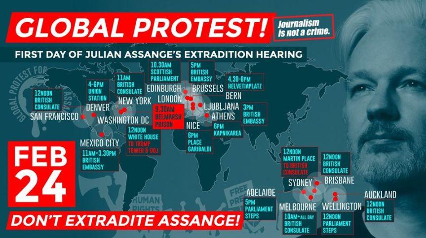 Brisbane Assange ActionQueensland