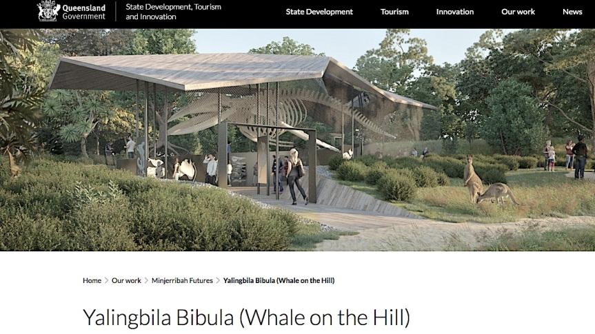 Facsimile Whale onMinjerribah