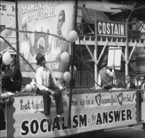 Seamen's Union of Australia float in the May Day March (1967)