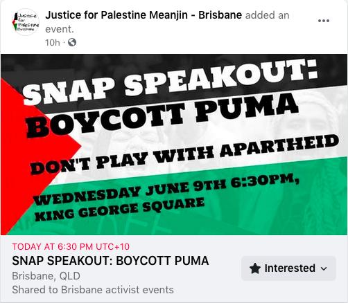 Boycott Puma: Don't play withapartheid